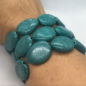 4 for $12: Trio of Turquoise Colored Bracelets